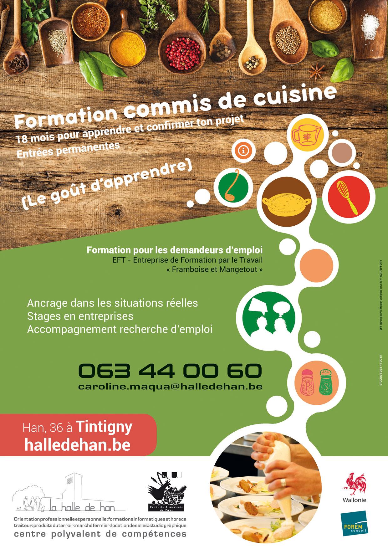 Formation commis de cuisine le go t d 39 apprendre for Recherche commis de cuisine